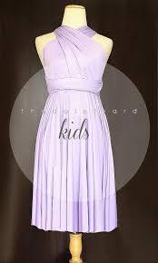 kids lilac bridesmaid dress convertible dress infinity dress
