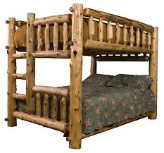 Log Bunk Bed Plans Log Bunk Bed Ladder Left Cabin Pinterest Bunk