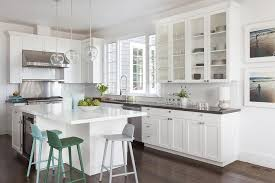 Kitchen With Center Island L Shaped Kitchen With Center Island Transitional Kitchen