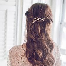 designer hair accessories retro metal branches hairpins jewelery women hair clip fashion