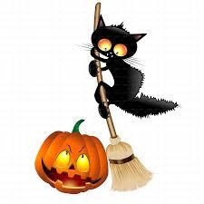 funny halloween cartoon cat mouse and pumpkin by bluedarkat