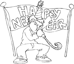 free new year coloring pages 100 images new year coloring page