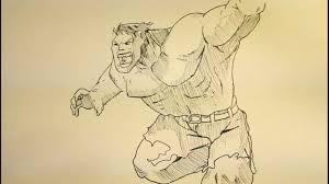 draw hulk step step easy tutorial face body