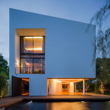 Modern House Roof Design Modern White House With Integrated Angles And Corners Design Milk