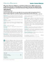 laboratory psg or limited channel sleep studies for osa annals