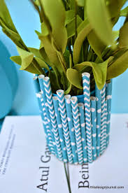 this design journal diy vases of straws