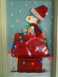 exquisite ideas charlie brown christmas decorating classroom door