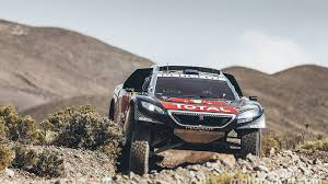 peugeot dakar dakar cars stage 9 sainz wins to take overall lead