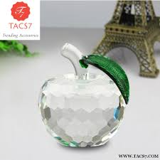 apple home decor accessories crystal apple miniature glass decor trending accessories
