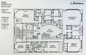 Floor Plan Com by The Floorplan For 520 Park U0027s 130 Million Triplex Unveiled