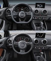 audi dashboard 2016 audi a3 sedan vs 2013 audi a3 sedan interior dashboard