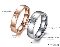 Personalized Engraved Rings Cross Engraved Rings Matching Couples Promise Rings Engraving
