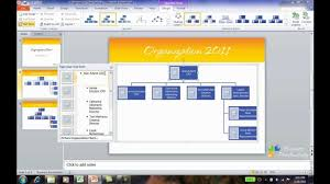 how to create an org chart in powerpoint 2010 youtube