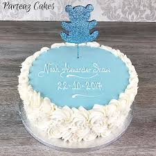 christening cakes boys christening swirls cake blue