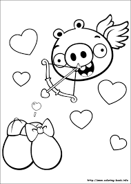 free printable cute angry birds coloring sheets kids