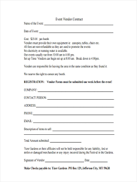 8 event agreement forms free sample example format download