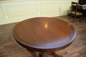 Small Dining Table With Leaf by Small Round Dining Table With Leaves From 44 Inch To 80 Inch