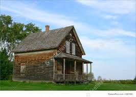 rural landscapes old wooden country house stock picture