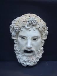 dionysus greek god statue dionysus greek plaster mask greek masks greek statues 186