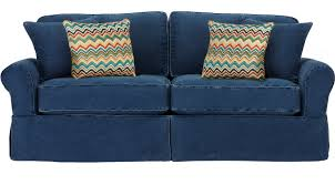 Blue Sofas And Loveseats 688 00 Sunny Isles Blue Sofa Classic Casual Cotton