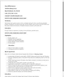 sample resume for cna position the form of resume free general