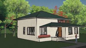 architecture house small duckdo modern white wall with cream fence