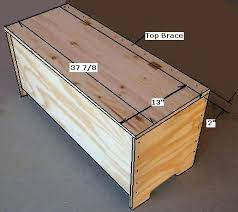 Shoe Storage Ottoman Bench Free Entryway Storage Bench Plans How To Build An Entryway Storage