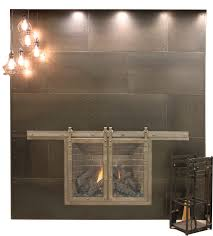 fireplace screens fireplaces the home depot and brushed nickel