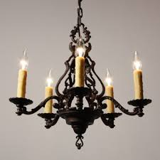Tudor Chandelier Handsome Antique Three Light Tudor Chandelier Cast Iron Brass