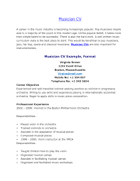 Musicians Resume Template Sle Musician Resume Education Resumes Include Performance