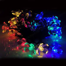 christmas lights outdoor 30 led solar string lights flower garden