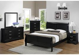 Black Sleigh Bed Discount Furniture Outlet Louis Philip Black Queen Sleigh Bed