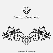 black ornament vector free
