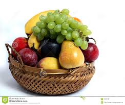 basket of fruit fruit basket side view royalty free stock image image 4925136
