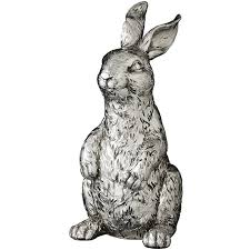 serafina silver rabbit ornament tutti decor ltd
