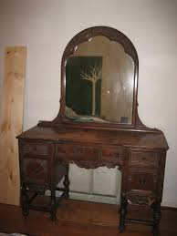 Wood Vanity Table Wood Antique Vanity And Matching Side Table Bedroom Vanities