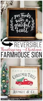 reversible thanksgiving and farmhouse sign unoriginal