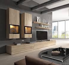 modern living room design ideas with baros sonoma oak wall unit