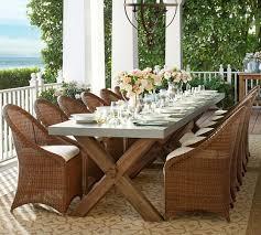 abbott zinc top rectangular fixed dining table u0026 palmetto chair
