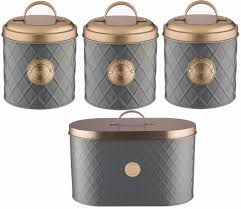 copper kitchen canister sets typhoon metal kitchen canisters u0026 jars ebay