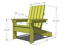 Patio Chair Plans White How To Build A Easy Adirondack Chair
