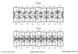 Eaton Center Floor Plan Lady Eaton College Housing Trent University