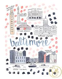 Baltimore Usa Map by Baltimore Md Map Print Baltimore Map Printing And Maryland