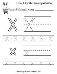 free printable letter x tracing worksheets for preschool free