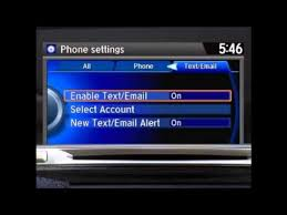 Text Message 2014 - 2014 2015 honda accord sedan hondalink sms text message youtube