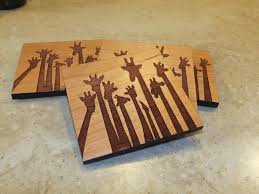wooden drink coaster wooden coasters midlandmooseworks
