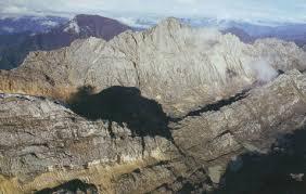 Rugged Mountain Range Irian Jaya Mountains