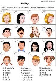 feelings matching 1 worksheet