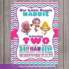 guppies birthday invitations by kiddiecreations1