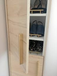 a classy tall shoe cabinet to fit small entryways ikea hackers